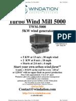 Windation Energy Systems Inc. `5-TWM-5000 Flier About Urban Wind Farm`