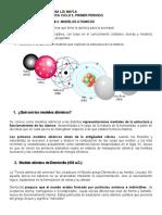 SECUENCIA DIDACTICA, SECCIÓN #2 MODELOS ATOMICOS