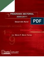 Programa Sectorial Desarrollo Rural