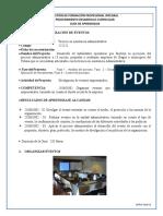 GUIA 6 ORGANIZACION DE EVENTOS