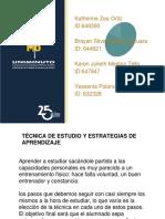 Actividad 6 TECNICA DE ESTUDIO Y ESTRATEGIA DE APRENDIZAJE