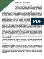DESARROLLO DE LAS CIUDADES