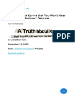 A Truth about Karma that You Won't Hear from the Mainstream Version