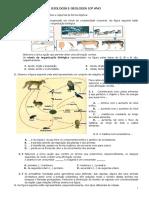 Ficha de Trabalho - Biosfera, Célula e Biomoléculas