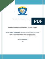 PROYECTO Educación Sexual Institucional 2020 SEM