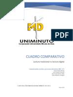 Cuadro Comparativo Lectura Digital Vs. Lectura Tradicional