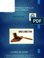 CLASE CIENCIA POLITICA DECRETO