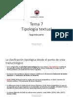 Tema 7. Tipología textual 2