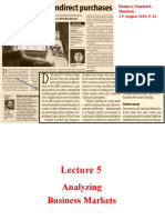 Lecture 5 Analyzing Business Markets