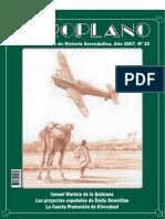 Revista Aeroplano número 25 del año 2007
