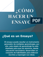 COMO HACER UN ENSAYO  power point