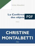 MONTALBETTI La Conference des objets.epub