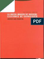 Libro Nueva imagen de Husserl. San Martín(versión completa)
