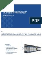 Presentación ULTRAFILTRACIÓN AQUAFLEX_julio 2014