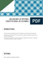 5. Presentación Mecanismos de Reforma Constitucional 1830