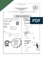 Teoría de exponentes -Material a revisar.