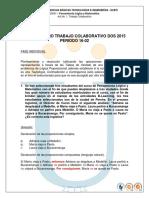 B. SOLUCIONARIO TRABAJO COLABORATIVO DOS 2015-II