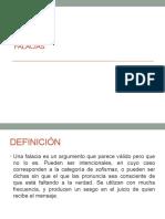 Clase 3 MBA CXXX LÁMINAS SOBRE FALACIAS