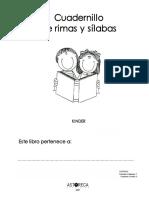 Cuadernillo de Rimas y Silabas 2007