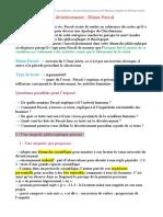 Le divertissement ; Blaise Pascal.docx