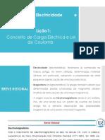 Lição 1-Carga Eléctrica e Lei de Coulomb