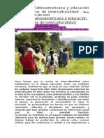 CLASE 6 Migración latinoamericana y educación en contextos de interculturalidad