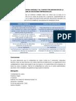 DIFERENCIA DEL COSTEO VARIABLE Y EL COSTEO POR ABSORCIÓN EN LA TOMA DE DECISIONES EMPRESARIALES