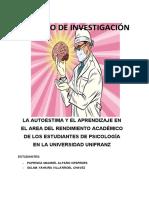 TRABAJO DE INVESTIGACIÓN AUTOESTIMA