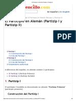El Participio en Alemán (Partizip I y Partizip II)