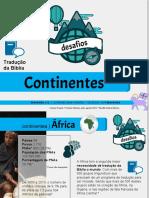 Evangelização desafios dos continentes