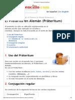 El Pretérito en Alemán (Präteritum)