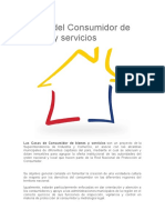 Casas del Consumidor de bienes y servicios