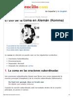 El uso de la coma en Alemán (Komma)