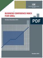 CII SME Confidence Index Oct - Dec, 2010