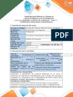 Guía de actividades y rúbrica de evaluación - Fase 4 - Factibilidad y alternativas metodológicas (1).docx