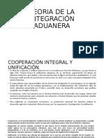 TEORIA DE LA INTEGRACIÓN ADUANERA