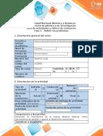 Guía de actividades y rúbrica evaluación  Fase 2 - Definir los problemas