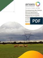 Conséquences Des Champs Électromagnétiques d'Extrêmement Basses Fréquences Sur La Santé Animale Et Les Perfomances Zootechniques