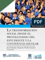 Transformación social convivencia escolar