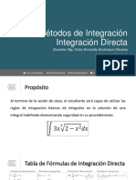 Métodos de Integración - Integración Directa