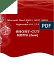 Microsoft Word and Pagemaker 6.5 Shortcut Keys