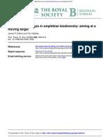 Forecasting Changes in Amphibian Biodiversity