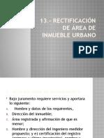 RECTIFICACION DE AREA DE INMUEBLE URBANO