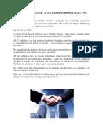 ASPECTOS LEGALES DE LA SOCIEDAD EN NOMBRE COLECTIVO