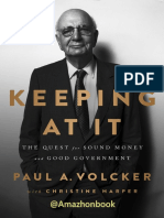 (1) Paul a. Volcker and Christine Harper-Keeping at It_ the Quest for Sound Money and Good Government-Hachette Book Group (2019)