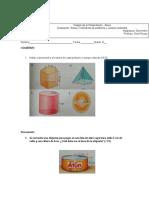 Colegio de la Presentación examen de poliedros y cuerpos redodndos 8