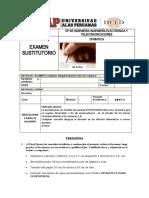 EXAMEN SUSTITUTORIO INGENIERÍA ELECTRÓNICA Y TELECOMUNICACIONES