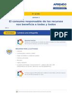 CONSUMO DE RECURSOS NO RENOBABLES