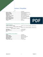 Vocabulario Unidad 1 (Saludos, Presentations y Despedidas)