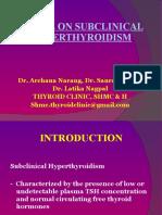 Sub Clinical Hyperthyroidism presented at HMAI 2010